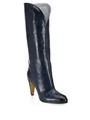Show Python Leather Boots