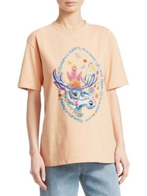 Bemabe Embroidered Moose T-Shirt