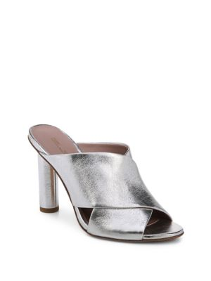 Emilyn Metallic Leather Mules