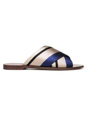 DIANE VON FURSTENBERG   Bailie Striped Sandals   Goxip