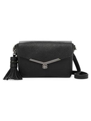 Vivi Leather Crossbody Bag in Black