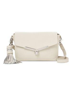Vivi Leather Crossbody Bag in Ivory