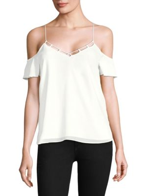 COOPER & ELLA Lotte Cold Shoulder Top