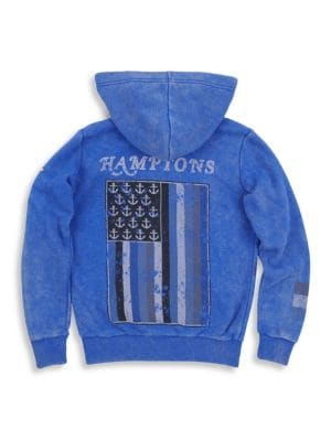 Toddler's, Little Boy's & Boy's Mineral Wash Hamptons Zip Hoodie