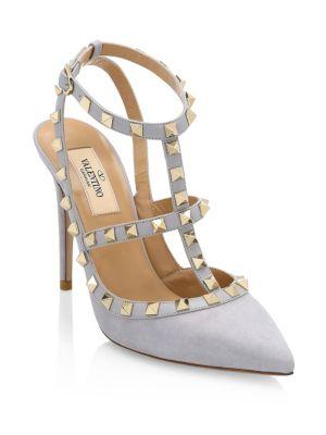 Rockstud Ankle-Strap Heels