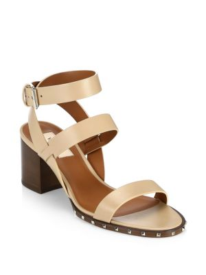 Leather Ankle Wrap Sandals