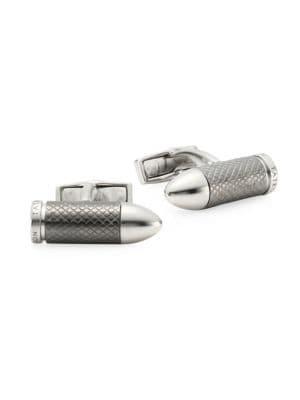 Bullet Chamber Silver Cufflinks