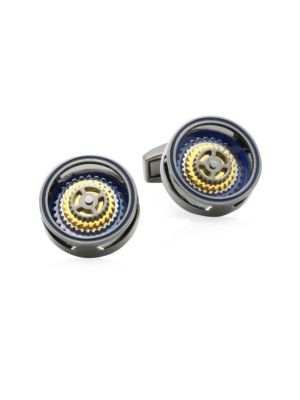 Bullseye Rotating Gears Cufflinks