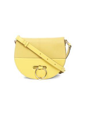 Pierced Leather Latch Bag