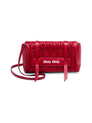 Matelasse Leather Convertible Clutch
