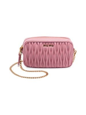 MIU MIU | Convertible Leather Crossbody Bag | Goxip