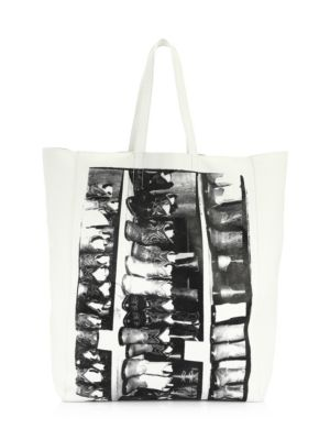 Andy Warhol Boots Soft Leather Tote