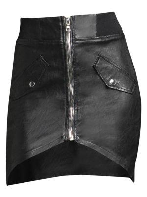 Isla Leather Zip Skirt