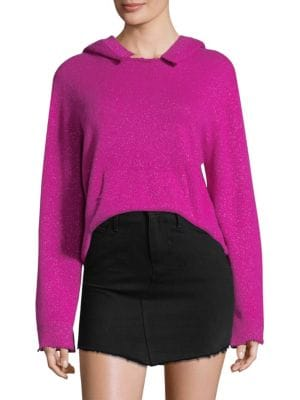 Ainsley Cropped Cashmere Hoodie