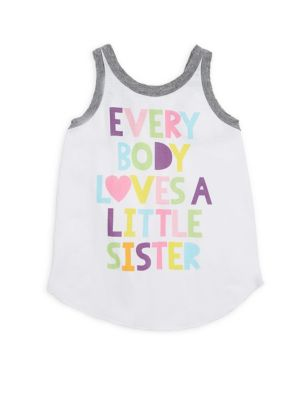 Little Girl's & Girl's Everybody Loves A Little Sister Tank Top