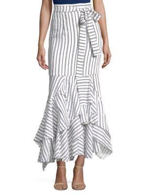 striped peplum skirt