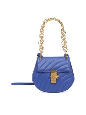 Sale alerts for  Small Quilted Drew Goldtone Jewelry Detail Leather Bag - Covvet