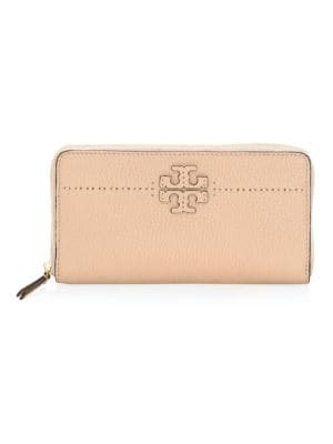 McGraw Zip Leather Continental Wallet