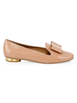 Salvatore Ferragamo Sarino Leather Flats aDyJXN3PhV