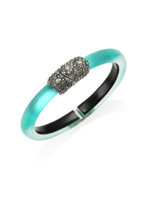 Lucite Crystal Embellished Thin Bangle