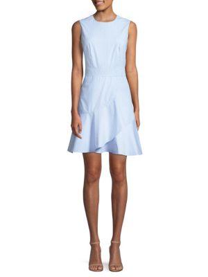 Sale alerts for  Striped Ruffle Cotton Dress - Covvet