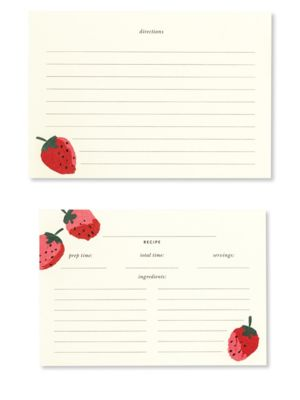 Strawberry Recipe Cards