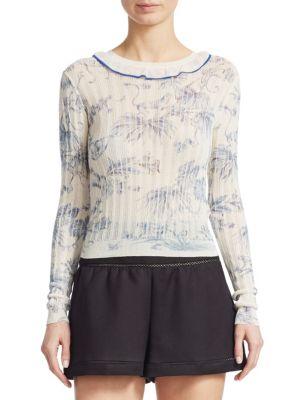 Monkey-Print Sweater
