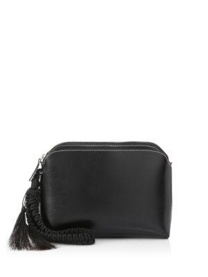 Leather Tassel Wristlet Pouch