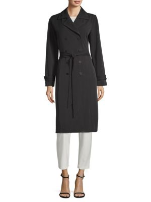 Cheap Sale Pre Order Eileen Fisher Double-Breasted Trench Coat Discount Perfect Bgqds0IomV