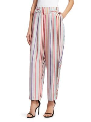 Silk Candy Stripe Pants