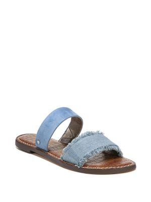 Gala Denim & Suede Sandals