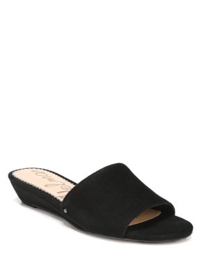 Liliana Suede Demi-Wedge Sandals