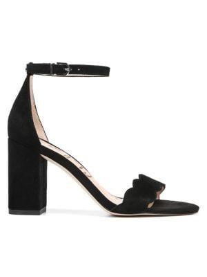 Odila Scallop Suede Sandals