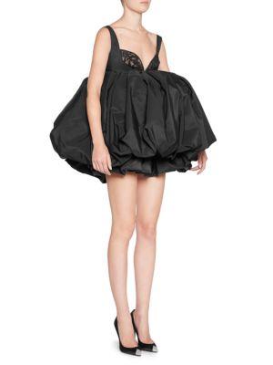 Silk Sweetheart Puff Dress