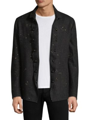 Slim Double Breasted Button Front Jacket
