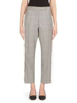 Glen Check Lace-Up Pants