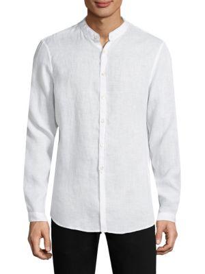 Garment Dyed Linen Button-Down