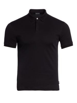 Textured Collar Slim-Fit Polo Shirt