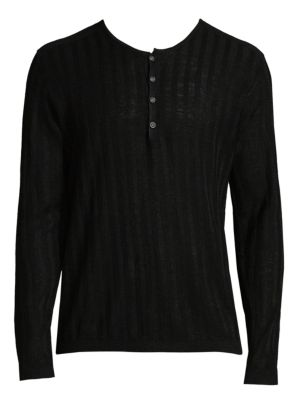 Long Sleeve Rib Henley