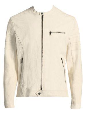 Slim Leather Moto Jacket