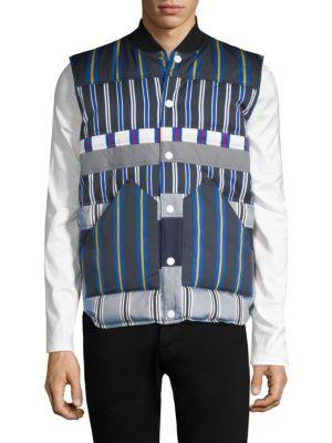 HILFIGER EDITION Striped Button-Front Vest