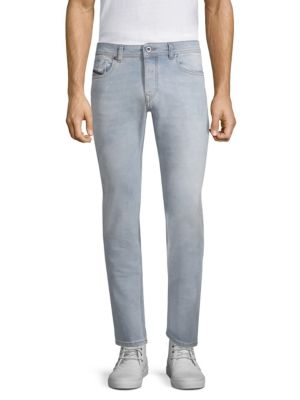 Classic Washed Slim Straight Fit Jeans