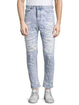 D-Type Distressed Jeans 0400097414142