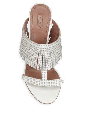 Alaïa Fringe Slide Sandals Quality Original Deals With Credit Card Original Cheap Online uAQh5LUoK