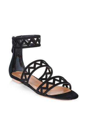 Suede Back Zip Sandals