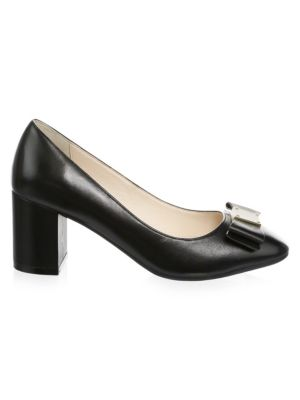 Tali Bow Leather Pumps
