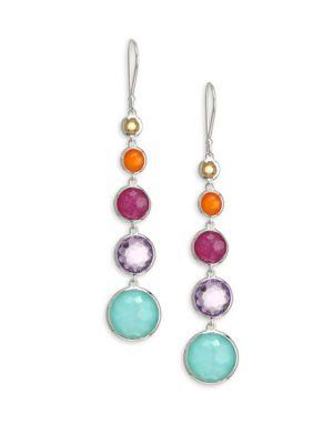 Lollipop Multi-Stone Drop Earrings