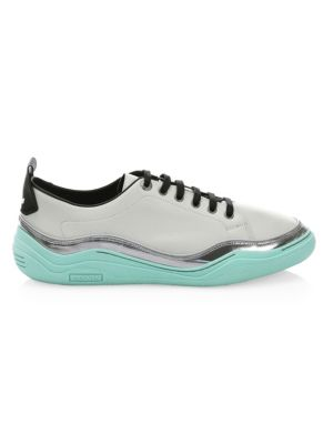 Specchio-Leather-Wrapped Leather Sneakers