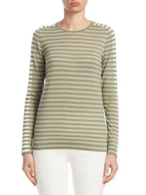 Stripe-Knit Top