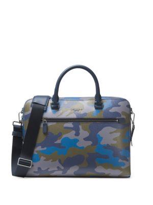 Camouflage Zip Brief Case